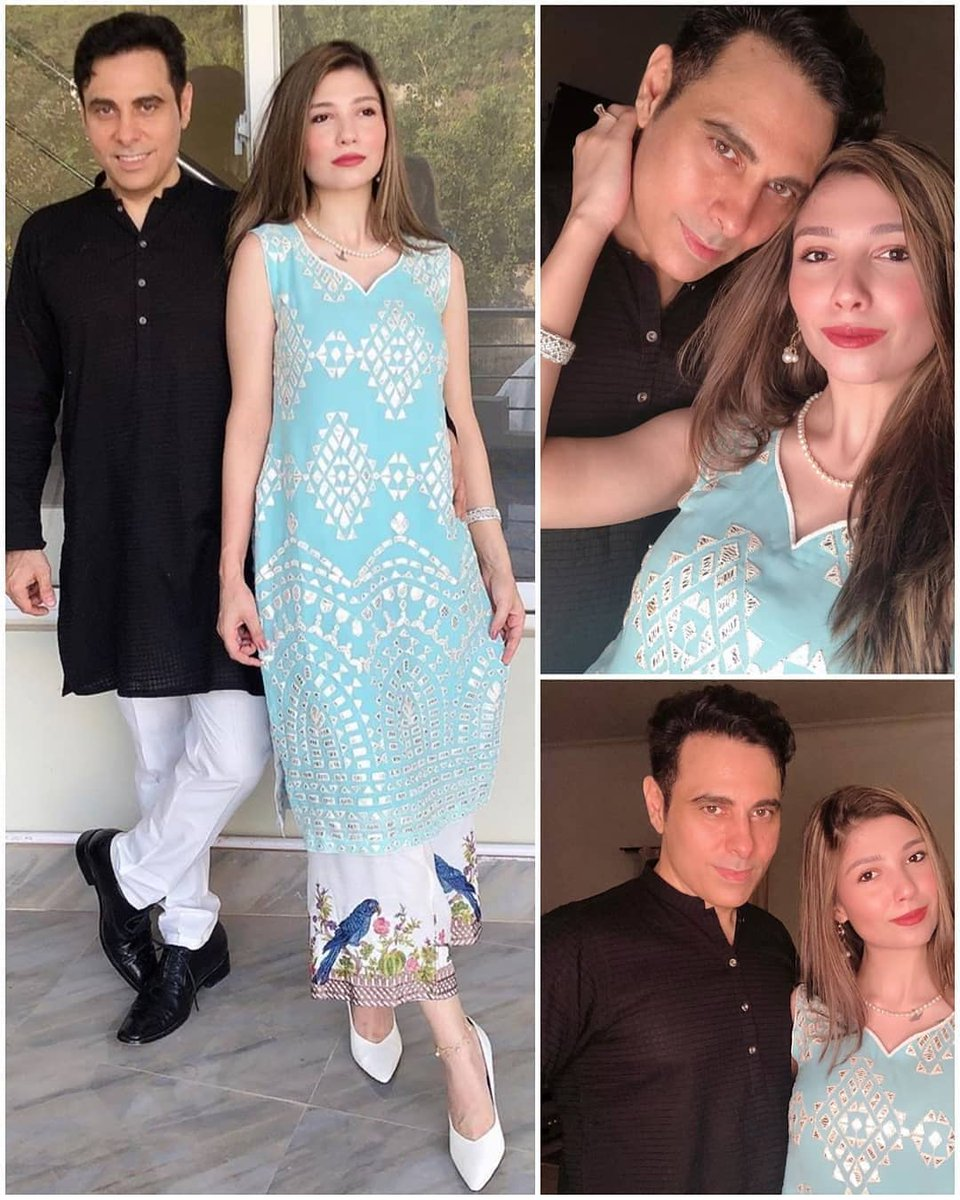 Newly wed Haroon and his wife Farwa Hussain celebrating their first Eid together  #EidAlAdha #Celebrities #Trendingpic.twitter.com/XxXFSGEhGD