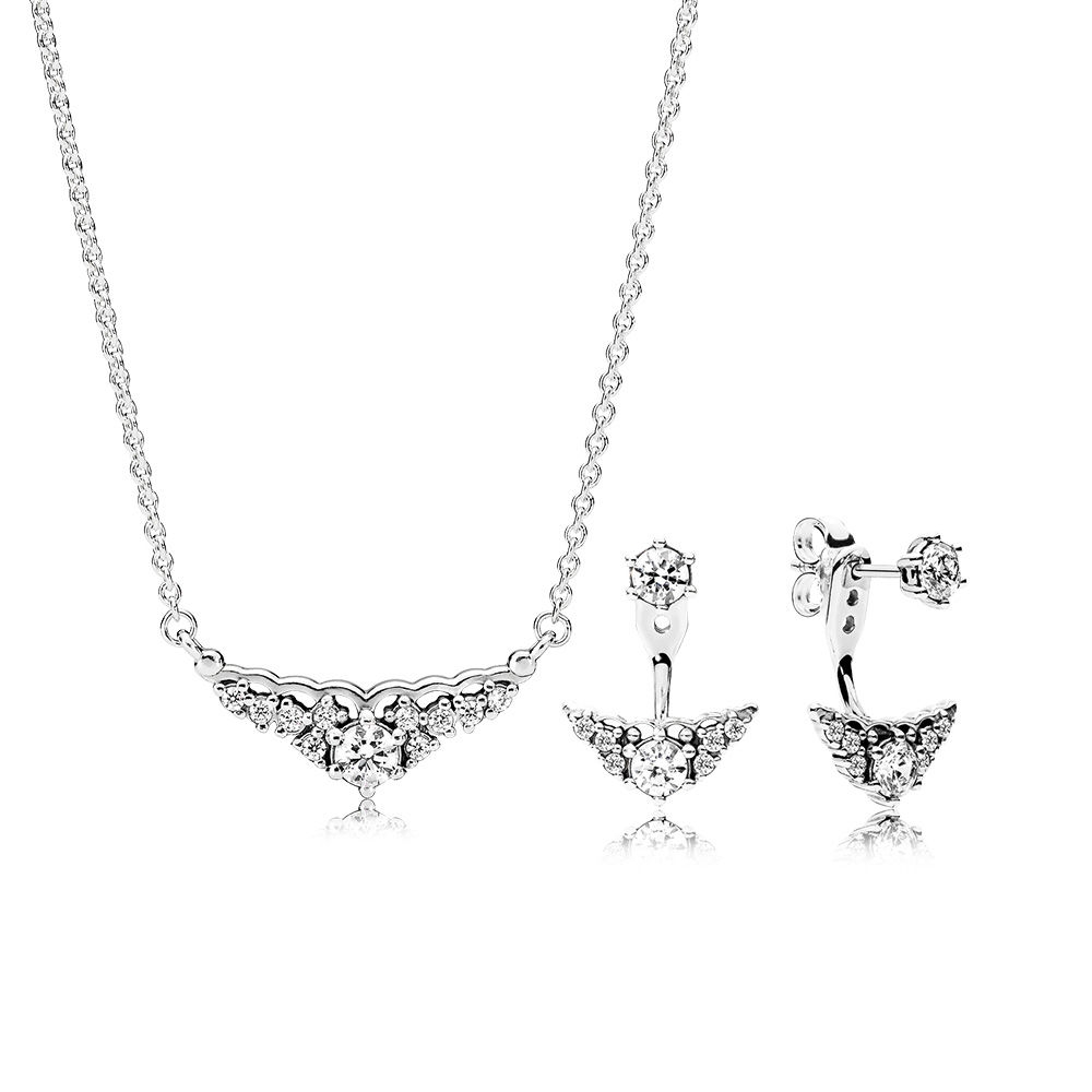 #luxury #jewels Fairytale Tiara Silver Earring and Necklace Set pic.twitter.com/3g1hAxCGll