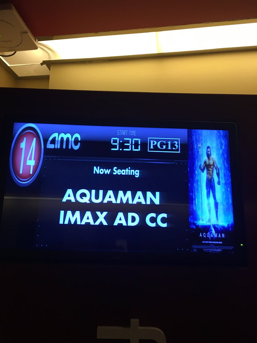 I saw Aquaman on New Years Day in IMAX.   I had a private viewing.  I would like to thank @AMCTheatres @AMCHelps for making this memory possible #ShareAMC #AList https://twitter.com/douglasnoble/status/1289171602609905665…pic.twitter.com/PU5yKO6peL