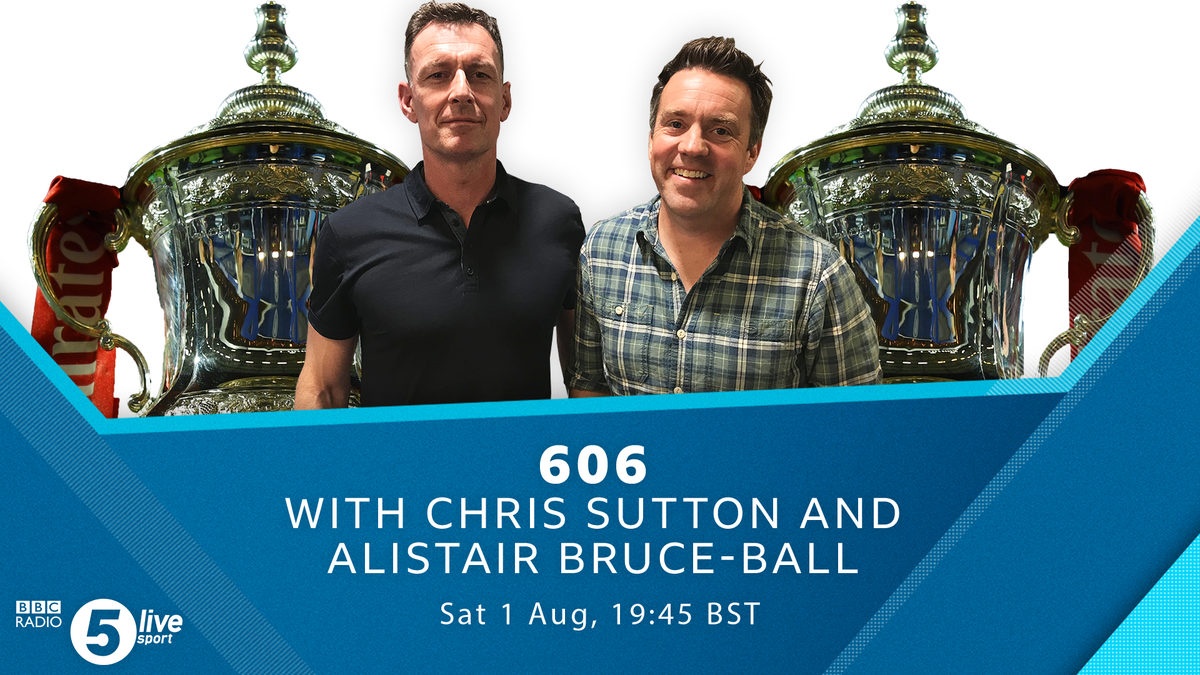 Coming up after the #FACupFinal   Still all to play for - @alibruceball & @chris_sutton73 are taking your calls & reacting to the result at Wembley 🔴🔵  Get ready to have your say after the final whistle 💬  📞 08085 909 693 📲 85058 🐦 #BBC606 https://t.co/aHgEk5H0fx