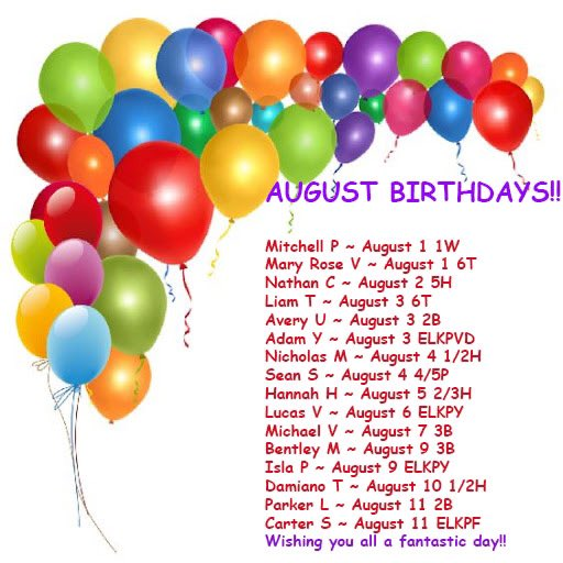 🎁🎂HAPPY BIRTHDAY🎂🎁 Happy Birthday to all of our students celebrating in the month of August! #tbay #tbcschools #holyfamily #happybirthday https://t.co/3MwWnunvay