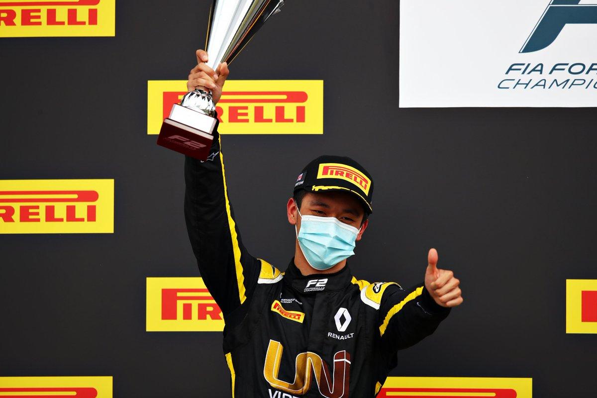 P✌️ for @gyzhou_33! 🥳  What. A. Drive! 🔥👏  #F2 #Formula2  📸: Formula Motorsport Limited https://t.co/GYVYGWzgeG