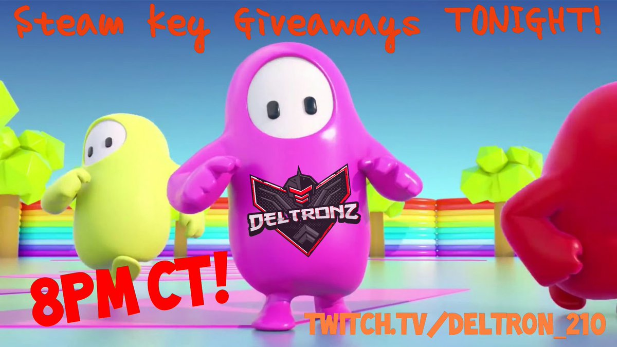 Looks like @devolverdigital wants the community to have more keys! So come on by tonight for your chance to win some for yourself or your friends! #fallguysbeta #FallGuysUltimateKnockout #steam #giveaway #free #saturday #Announcement #streamingsoon #twitch #communitypic.twitter.com/PcrpQerMS2