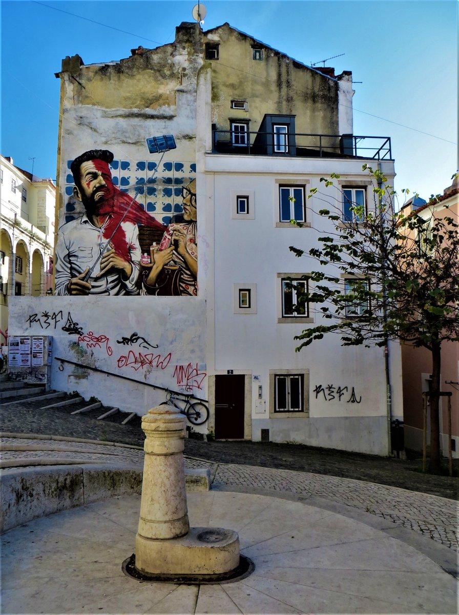 #FlashbackFridayz #StreetArt Thanks for the tag Cynthia, @Adventuringgal @carpediemeire @TravelBugsWorld @TravelingNess @SuchetaDoshiMD #Lisbon #Portugal