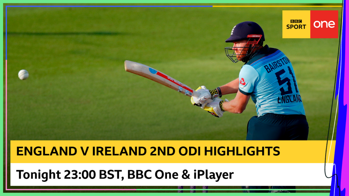 Tune in to @BBCOne now for all the highlights of the second one-day international between England and Ireland. Or watch it on @BBCiPlayer 👉 bbc.in/2D9OoIq #bbccricket #ENGvIRE