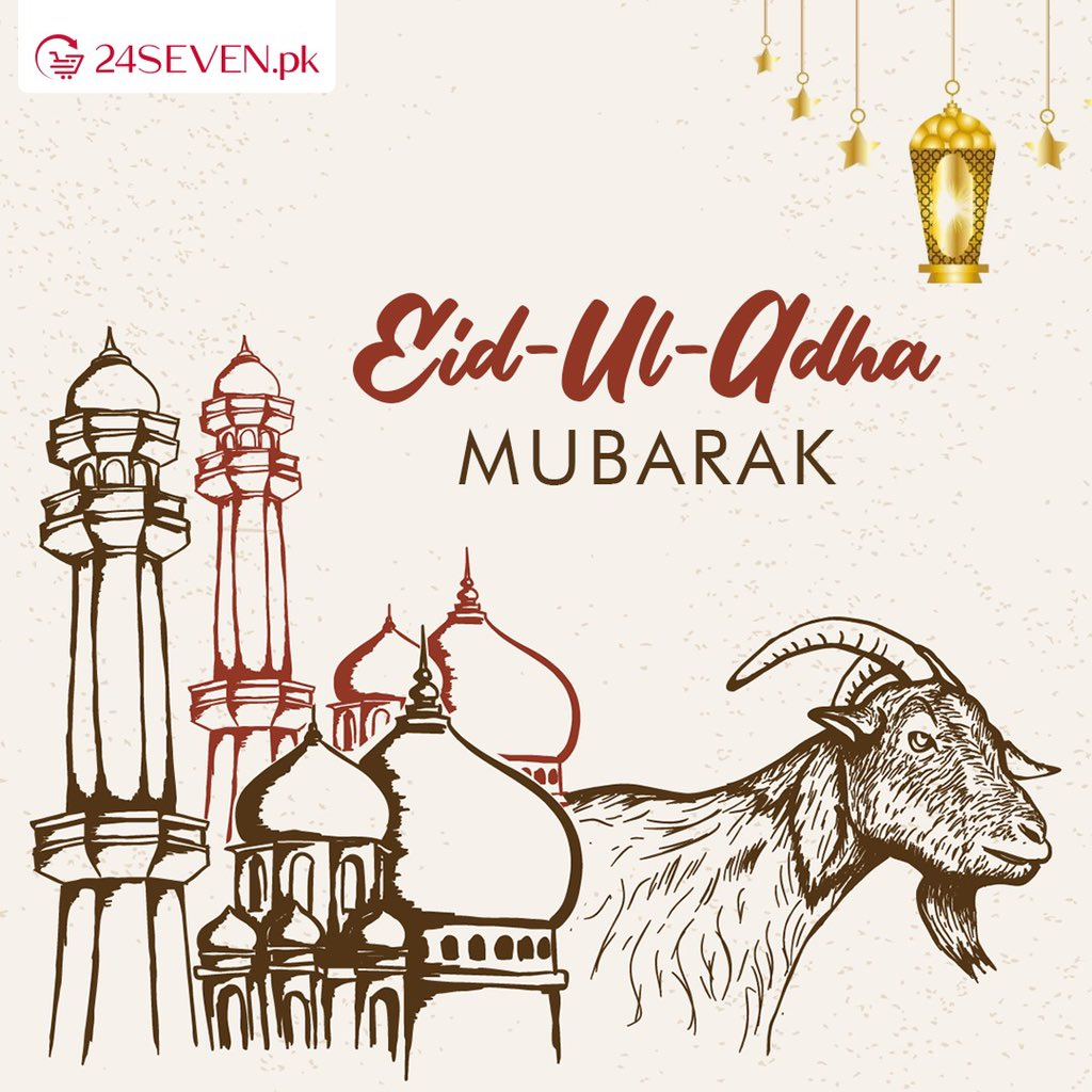 Eid Mubarak from us to you and your family. May you all have a blessed Eid. Don't forget to follow SOPs. Be kind, stay safe and celebrate khushiyan this Eid!  #BariEid #EidUlAdha #Qurbani #BakraEid #OnlineGrocery #Lahore https://t.co/uA5hKNZwGB