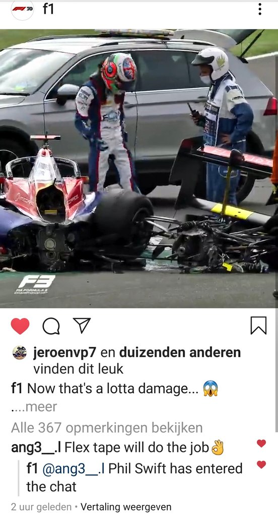 Oh how I love Formula 1 😂🥰  Btw all those social media teams need a raise, they're awesome ❤  #F1 #FlexTape #BritishGP https://t.co/9QURVGVvUJ