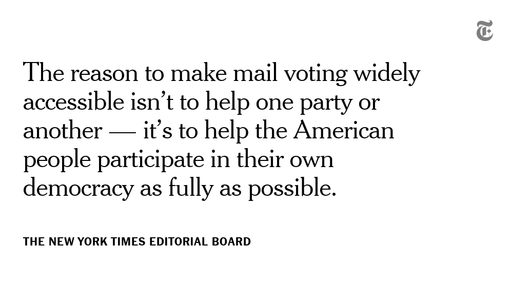First:   Aggressively counter misinformation about mail voting, which continues to be spread not just by President Trump, but also by top members of his administration. https://t.co/pnlxdpKPrO https://t.co/4hubd8FRlF