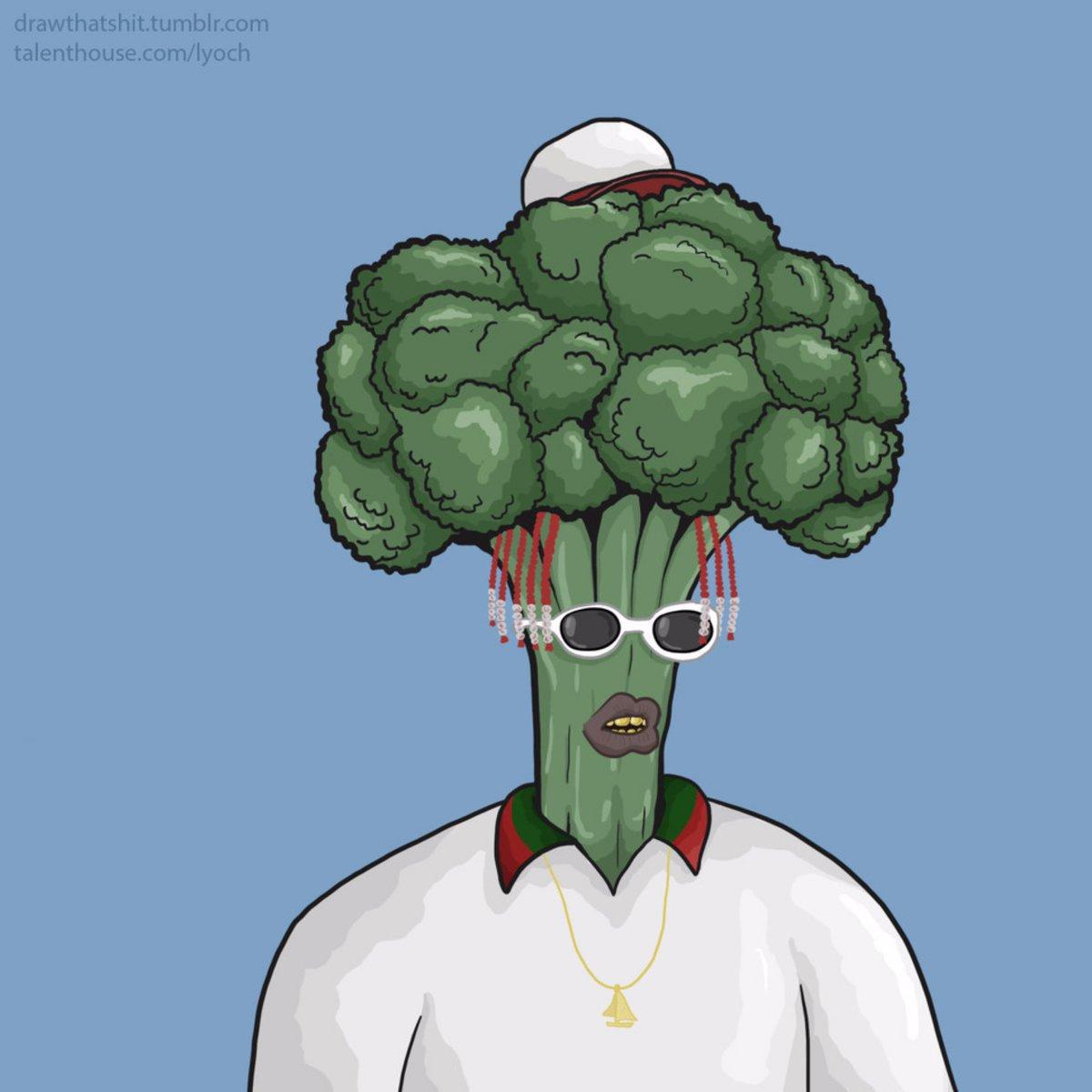 """Lil Boat x """"Broccoli"""" 🥦 🎨: oglyoch_ (IG)"""