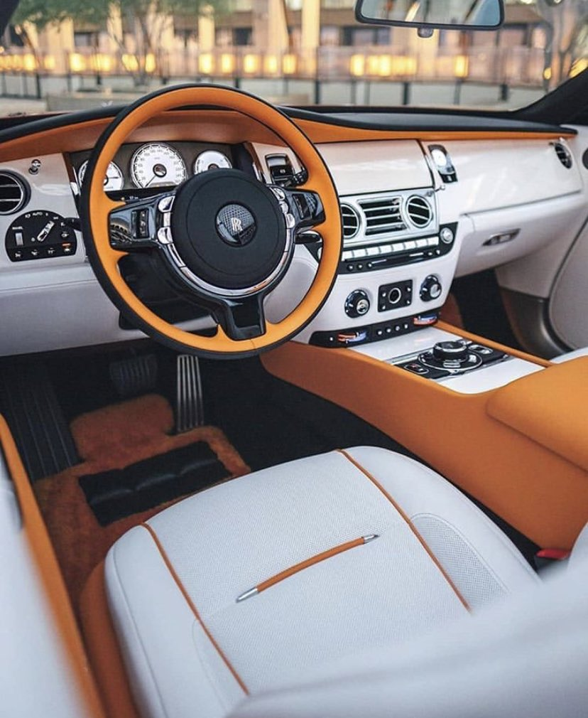 Rolls Royce interior. Do you like the color of that interior?  What color would you put on it?  • • #billionaire #luxurythings #luxurygoals #onlyforluxury #luxurytoys  #rollsroyce #rolls #rollsroycewraith #rollsroycephantom #supercar #cars #drive #hypercar #car #leatherpic.twitter.com/4DiIOhqiFw