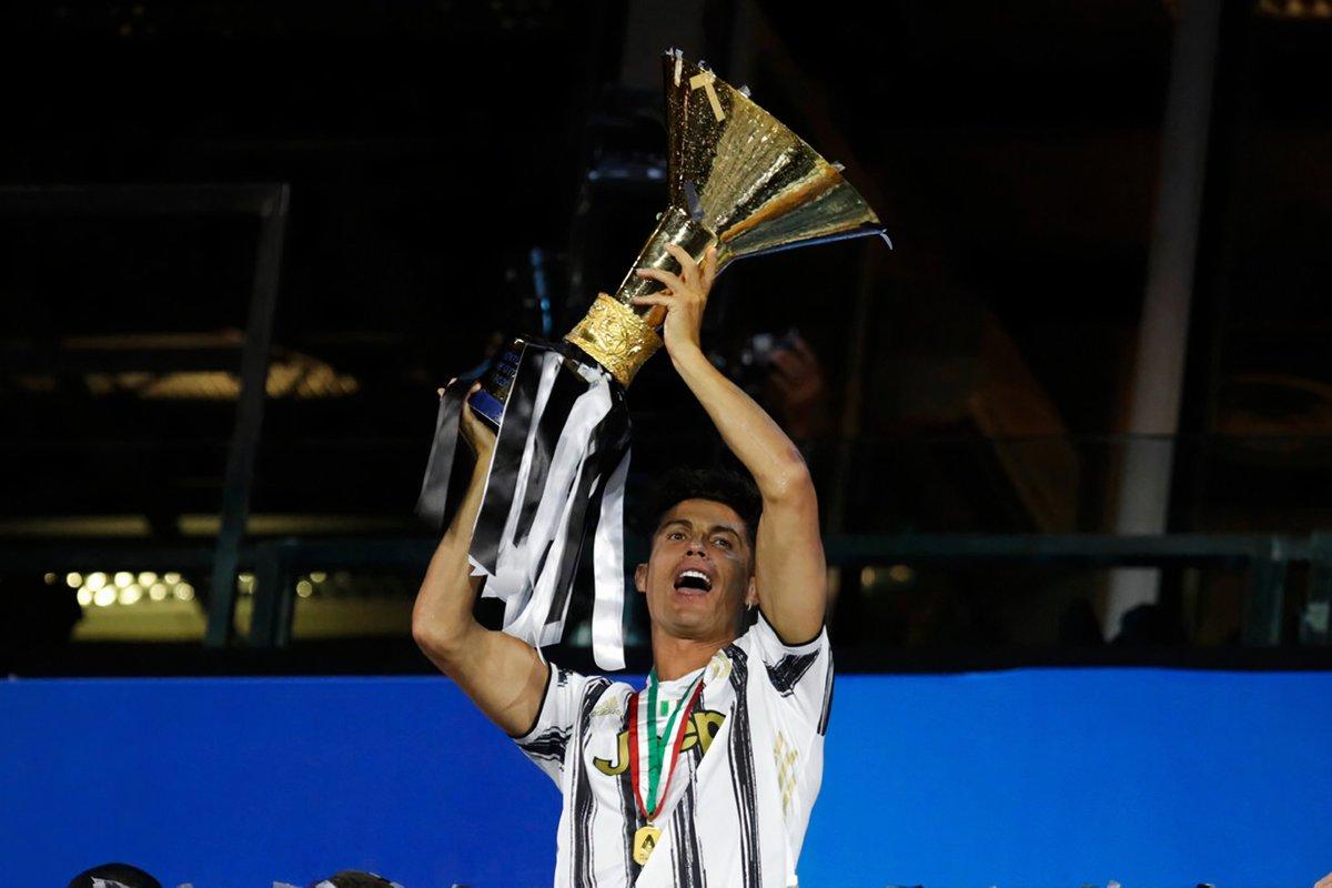 Cristiano Ronaldo 🏆🇮🇹  #CR7 #stron9er #scudetto https://t.co/FEe9aT0p4d