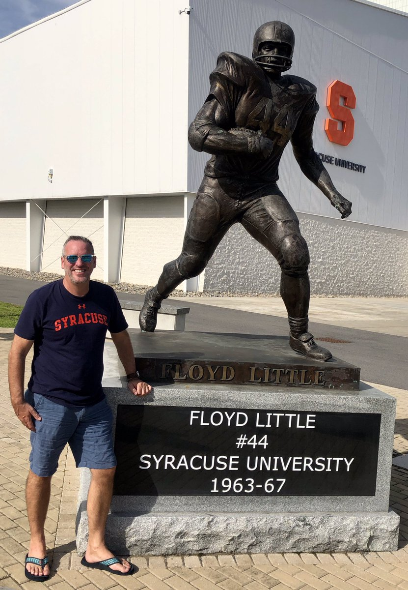 @CuseFootball @NFL @Broncos Hall of Famer Floyd Little - wishing you the very best in your fight against cancer - you've got this #44! All of us who bleed Orange are with you! 🍊