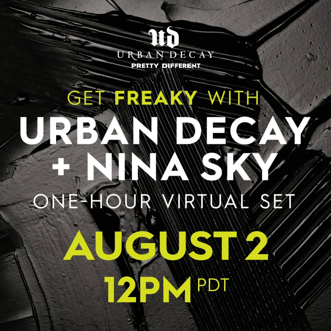 Join UD for a virtual LIVE DJ SET TOMORROW with @NinaSky to celebrate the national launch of our ALL-NEW Lash Freak Mascara 🙌 When: August 2, 12PM PDT Where: UD's IG LIVE: bit.ly/2LYuQJd Why: We wanna get freaky w/ u 💚 😎 #UrbanDecay #LashFreak #Lashes #Music