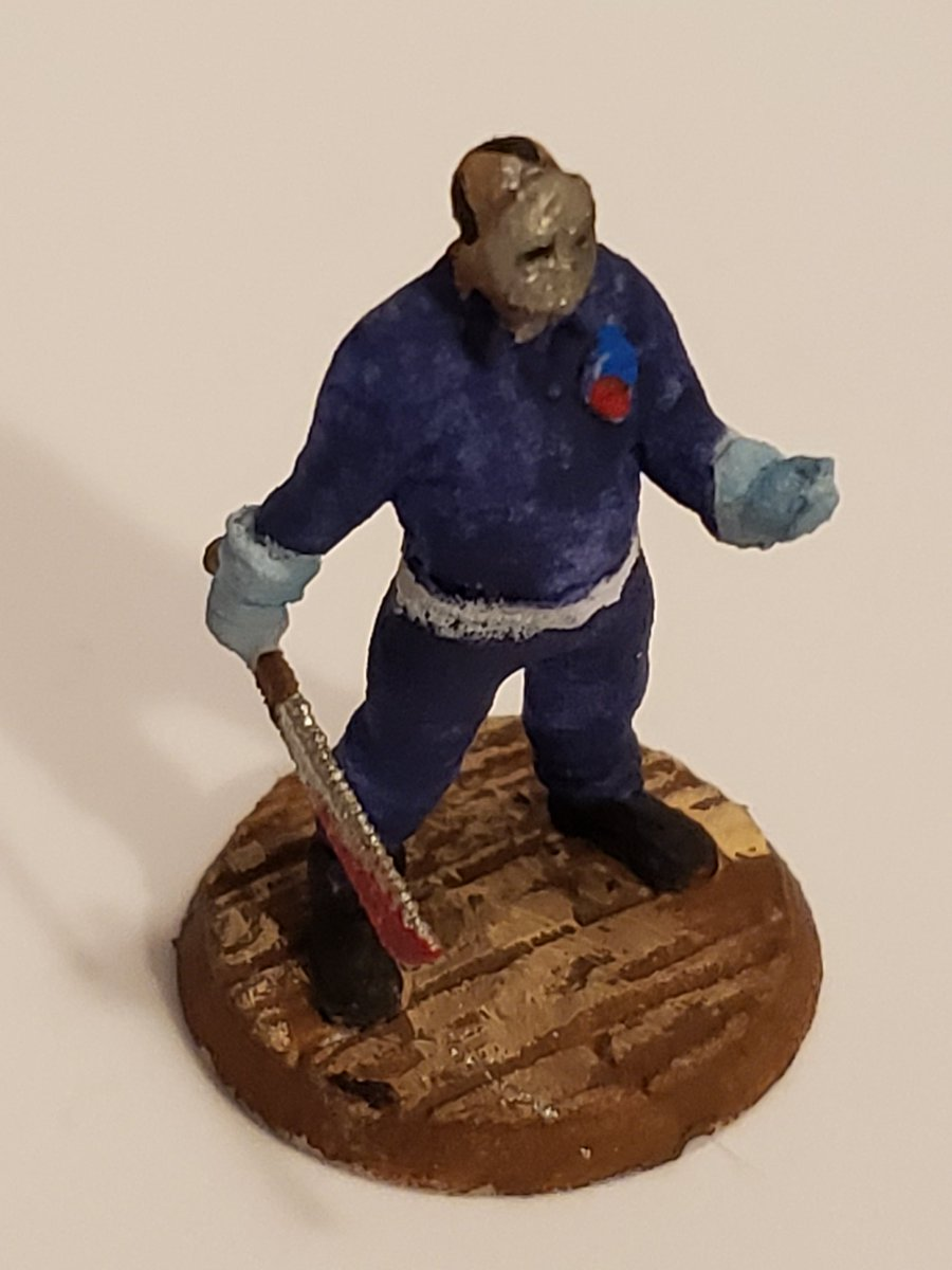 ActionJason 28mm miniature. Just painted. #cosplay #cosplayersofinstagram  #conlife #ActionJasonCosplay #cosplayfun  #cosplayersofig  #cosplayer  #cosplaying  #cosplaycommunitypic.twitter.com/TaY04YTeO0