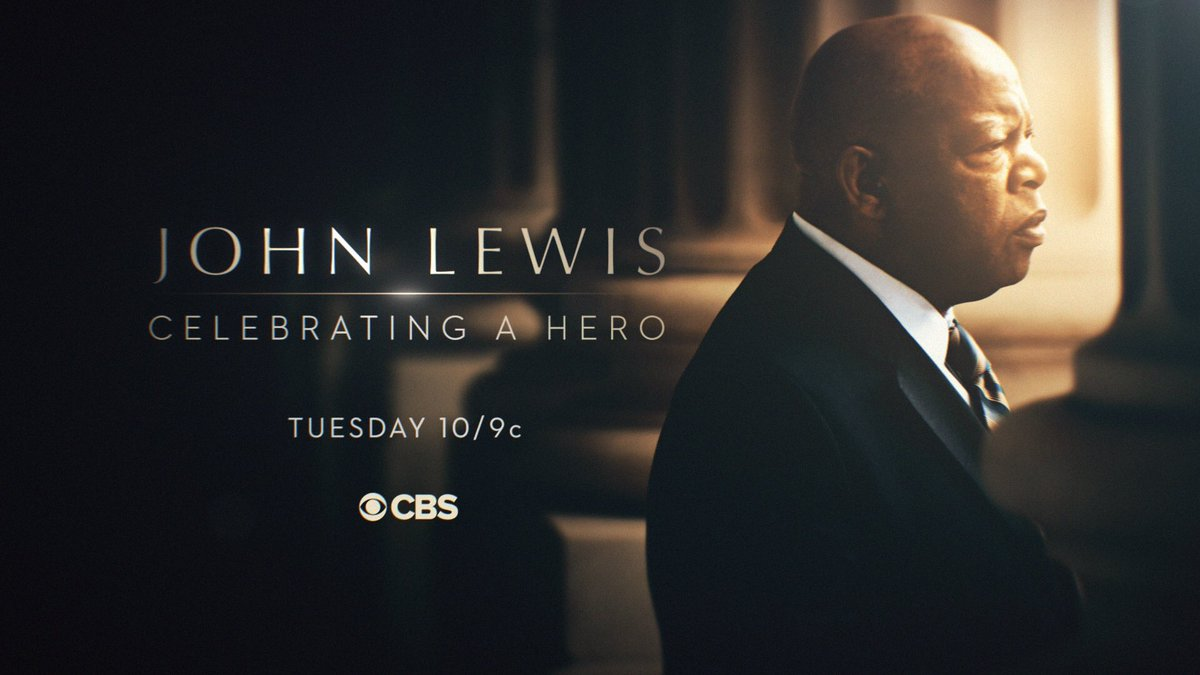 """Join me in honoring an American icon on """"John Lewis: Celebrating a Hero"""" this Tuesday at 10pm/9c on @CBS and @CBSAllAccess. #JohnLewisCelebration"""