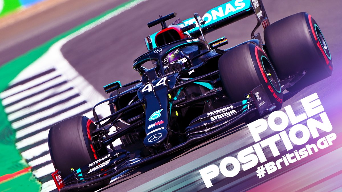 Who can stop @LewisHamilton? 💪 The Brit has taken pole position for the #BritishGP despite a red flag-causing spin in Q2 #F1 https://t.co/F2FaKnbYDn