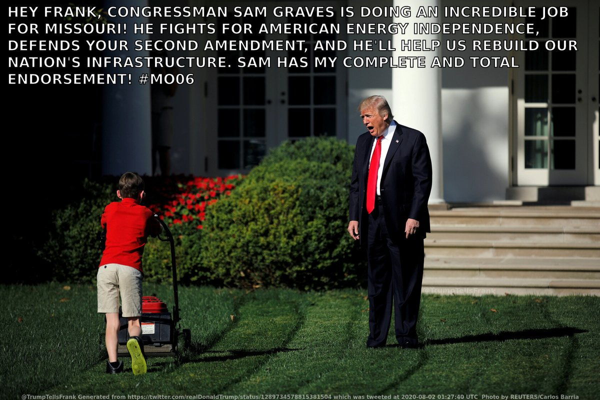 Donald Trump, President of the United States of America, walks out on to the White House lawn to tell Frank his latest tweet… #MO06 https://t.co/AszHvSxQcc