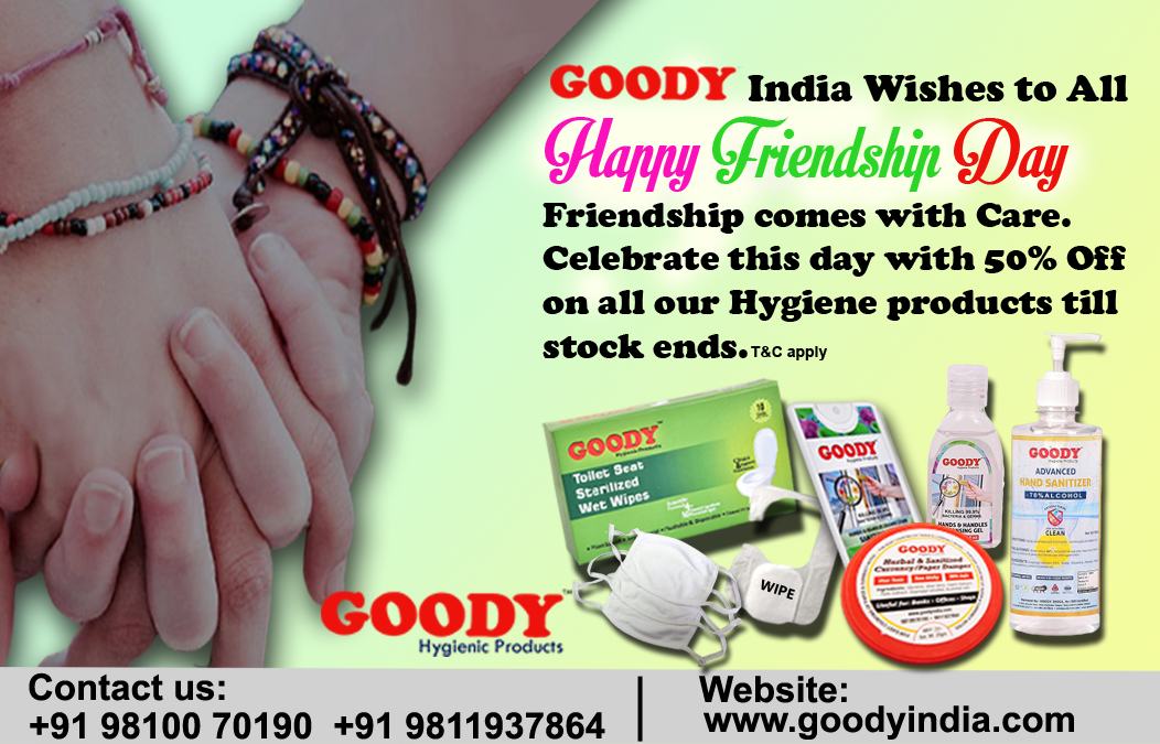 Goody India Special Friendship Day Offer 50% Off with Free Gift with every order.  (Limited Period offer T&C Apply.) To order :https://t.co/h8soAdYDIM https://t.co/HsY8wGRyNe