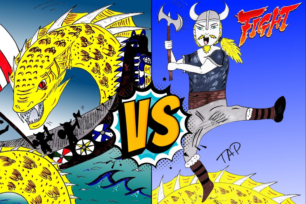 Find out who will win this fight in my new #WEBTOON #ScionOfLoki  Jormungandr VS Viking  Get ready to laugh your ass off.  #Comedy #Fantasy #Romance #Adventure #Action  #Zombies #Viking #Loki #manga  https://www.webtoons.com/en/challenge/scion-of-loki-/list?title_no=490874… pic.twitter.com/YwHfZedQCD