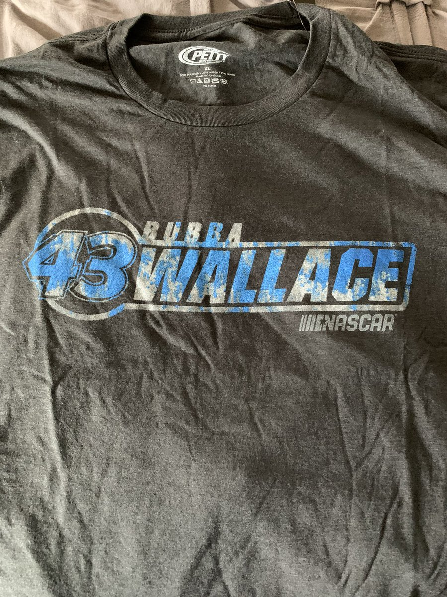 @TIME @BubbaWallace My #BubbaWallace shirt came in the mail, today. I've never owned a #NASCAR shirt. https://t.co/B7xWutZ2jN