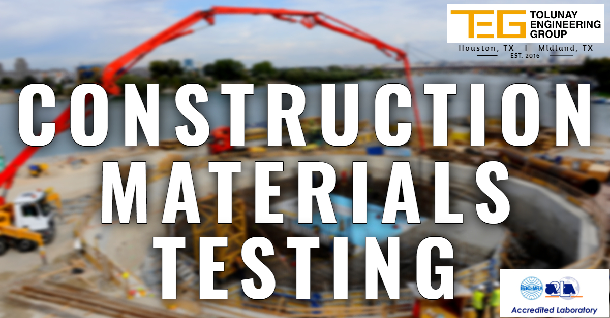 At #TEG, one of our major focuses is #ConstructionMaterialsTesting, and our state-of-the-art #a2la accredited #laboratories are always ready to serve you. #callustoday for your next #civilconstruction.  * We are NOT affiliated with Tolunay-Wong Engineers (TWE). pic.twitter.com/gxxpphcm5V