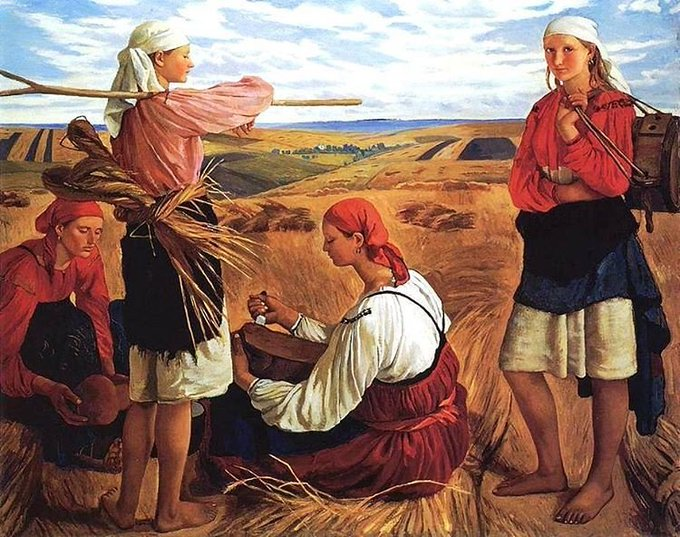 The Harvest, 1915 by Russian painter Zinaida Serebriakova #womensart #August #Summer #Sunday