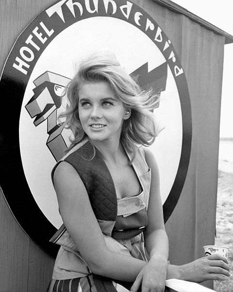 A young and pretty Ann-Margret relaxing.
