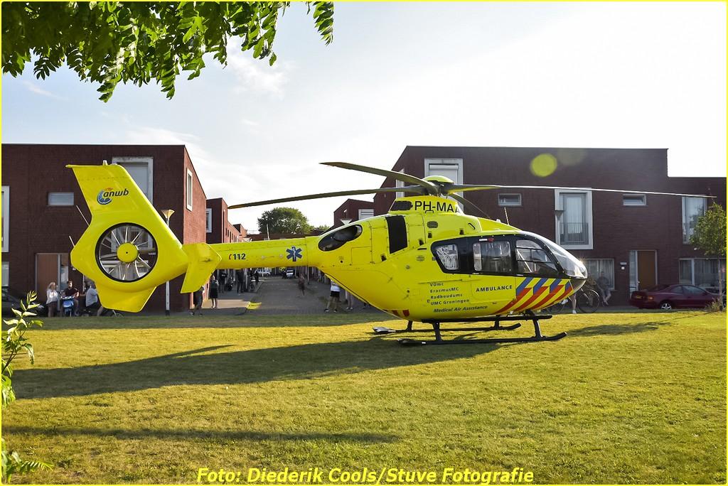Lifeliner2 naar Oerlesestraat in Tilburg voor reanimatie ..