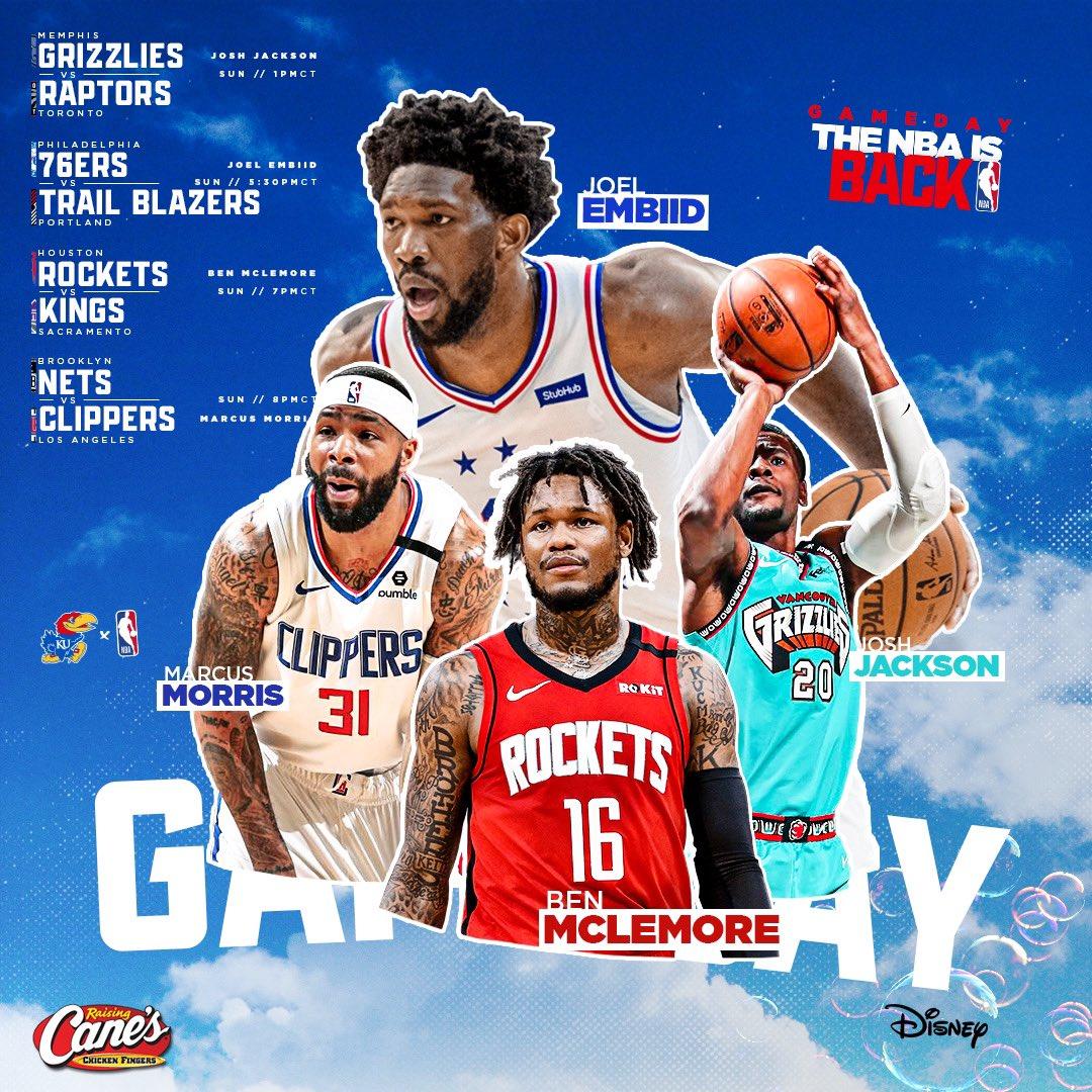 Sunday hoops and #NBAJayhawks 🙌 https://t.co/B6UcHrNQkt