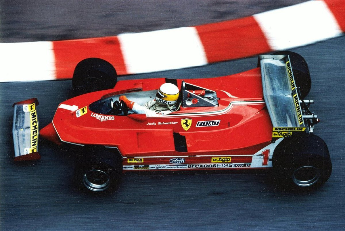 Sebastian Vettel in 2020 reminds me of Jody Scheckter in 1980 (pic): a once great world champion struggling in an uncompetitive Ferrari in which his young team-mate is serially outclassing him; Gilles Villeneuve then, Charles Leclerc now. #70thAnniversaryGP #F170 #F1 https://t.co/RUcCdSwqE2