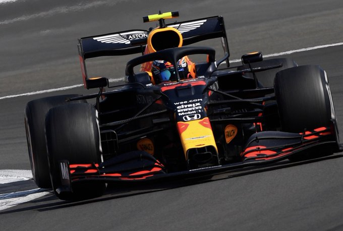 A brilliant victory for @Max33Verstappen…