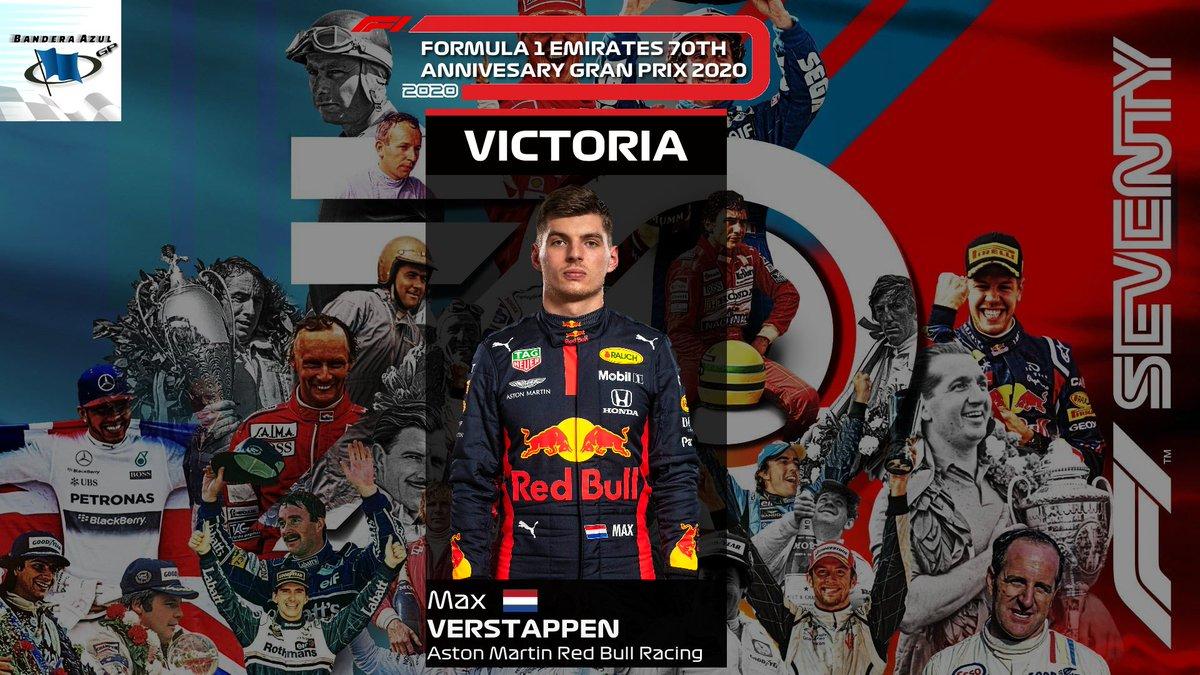 ¡Max VERSTAPPEN VENCE en el Gran Premio del 70º Aniversario!👇 Es su 9ª victoria de su trayectoria en la #F1. ▶️ Transmisión patrocinada por @Almansa_eS y @F1Friendscup #F1 #F170 https://t.co/S8HtmTT8o4 https://t.co/gX3wIBDATR