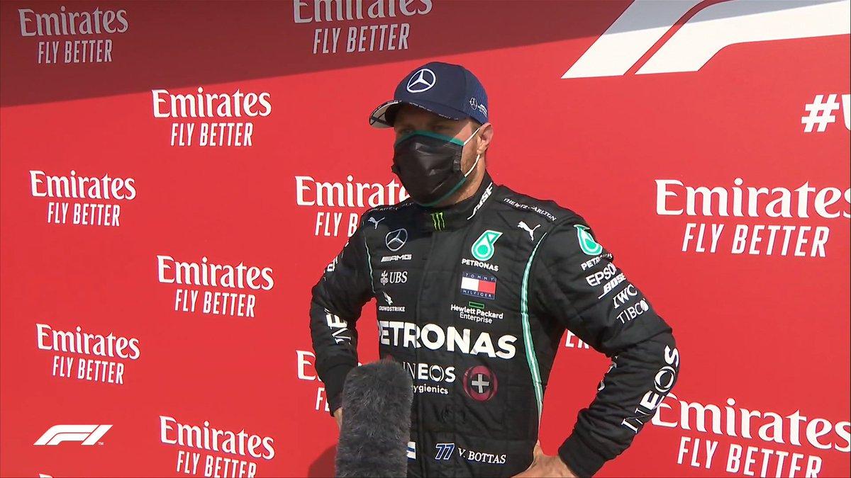 """BOTTAS: """"Es muy frustrante haber largado en pole y terminar tercero. Mi estrategia estuvo muy lejos de ser la ideal. Lo intenté, pero en el momento que empecé a empujar, me quedé sin neumáticos. """"  #F170 🇬🇧 #F1 #Formula1 https://t.co/zwcavKrYWr"""