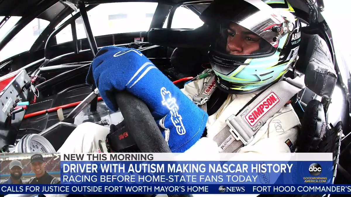 Armani Williams learned about his autism diagnosis at around 7 years old and is now the first NASCAR driver openly diagnosed on the spectrum. @janai has the details. https://t.co/zaiknXCayI https://t.co/8sMec33wko