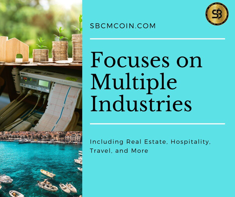 Our Focuses on multiple industries including Real State, Hospitality and Travel  #sbcoin #SBCM #sbexchange #SBCOIN #bitcointrading #bitcoinexchange #bitcoin #cryptocurrency #cryptocurrencyexchange #cryptocurrencytradingplatform #cryptocurrencytradingpic.twitter.com/GPABQvbXrm
