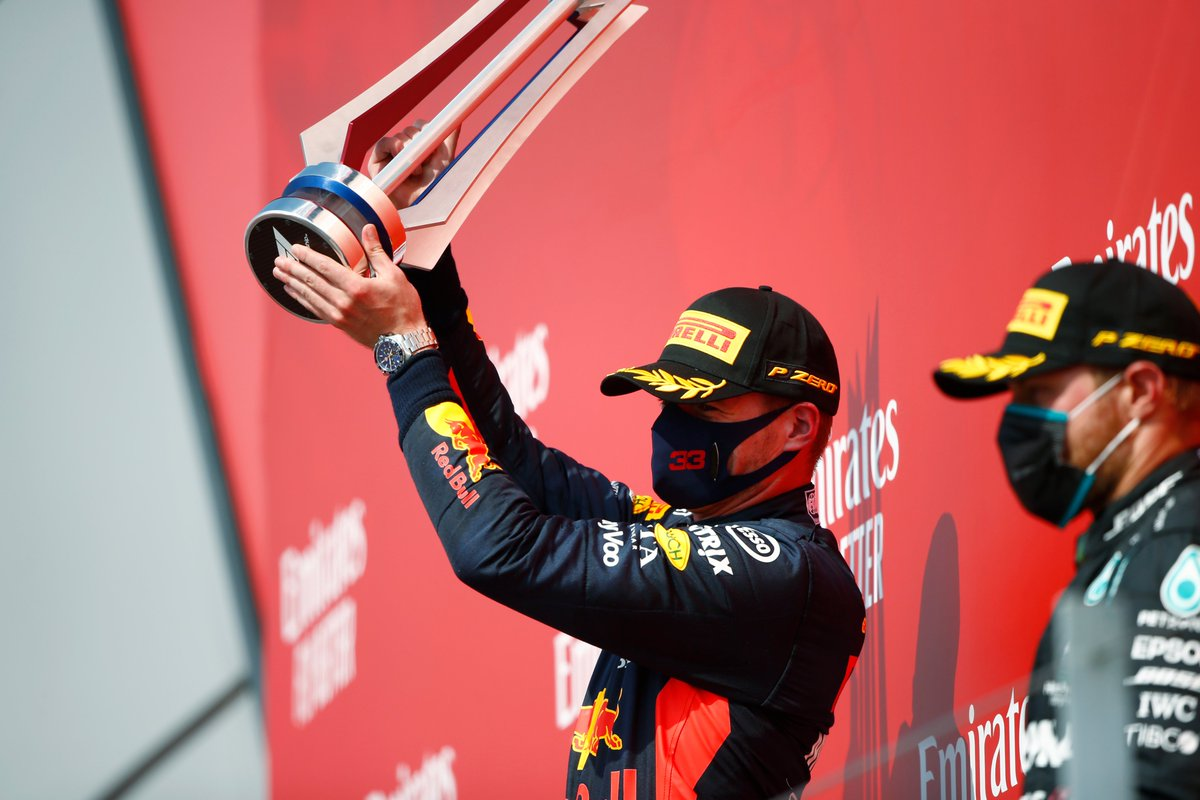 Taking that top step 🍾🏆 Another great addition to the trophy cabinet for Max and the team 👊  #PoweredByHonda https://t.co/iPxudsrERs