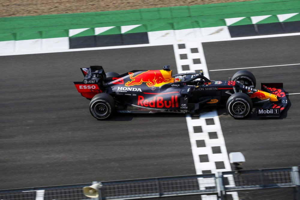 The moment of victory! A strategic masterclass from @Max33Verstappen @redbullracing #F1 https://t.co/v7zOaopMrY