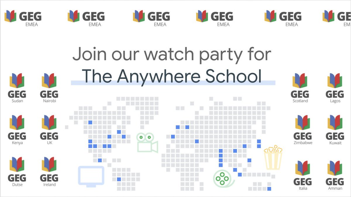 @GoogleForEdu's #TheAnywhereSchool is in 48hrs, who's joining their #EMEA #GEGs #Connect for this #exciting & #GOOGLEY #event?    #Online  11-12 Aug.  http://goo.gle/theanywhereschool…   Who's joining us? pic.twitter.com/Rk3PxnxScN