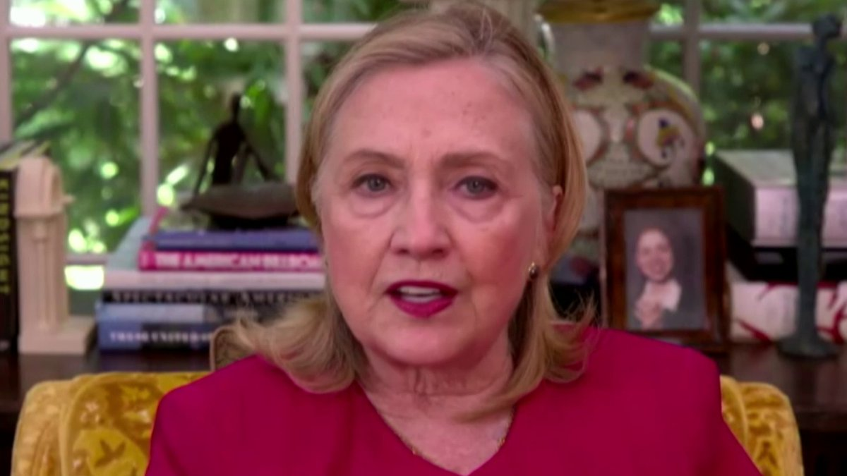 Image for the Tweet beginning: Hillary Clinton says she hopes
