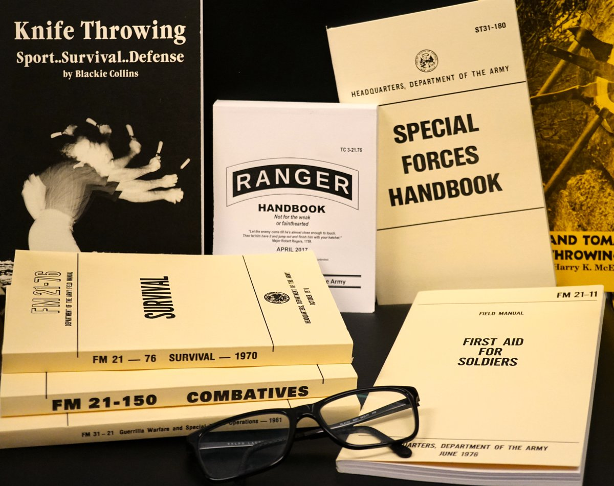 Happy #BookLoversDay! For all the book worms out there, we have some great options in store and online. These are not only interesting but useful as well! #GearUpAtGearUp #books #reading #bookworm #militarybook #survival #knives #rangerbook #firstaid #survivalsuppliespic.twitter.com/E7rUqVEiCG