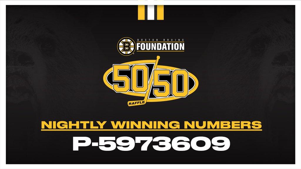 Today's winning #NHLBruins Foundation 50/50 number: