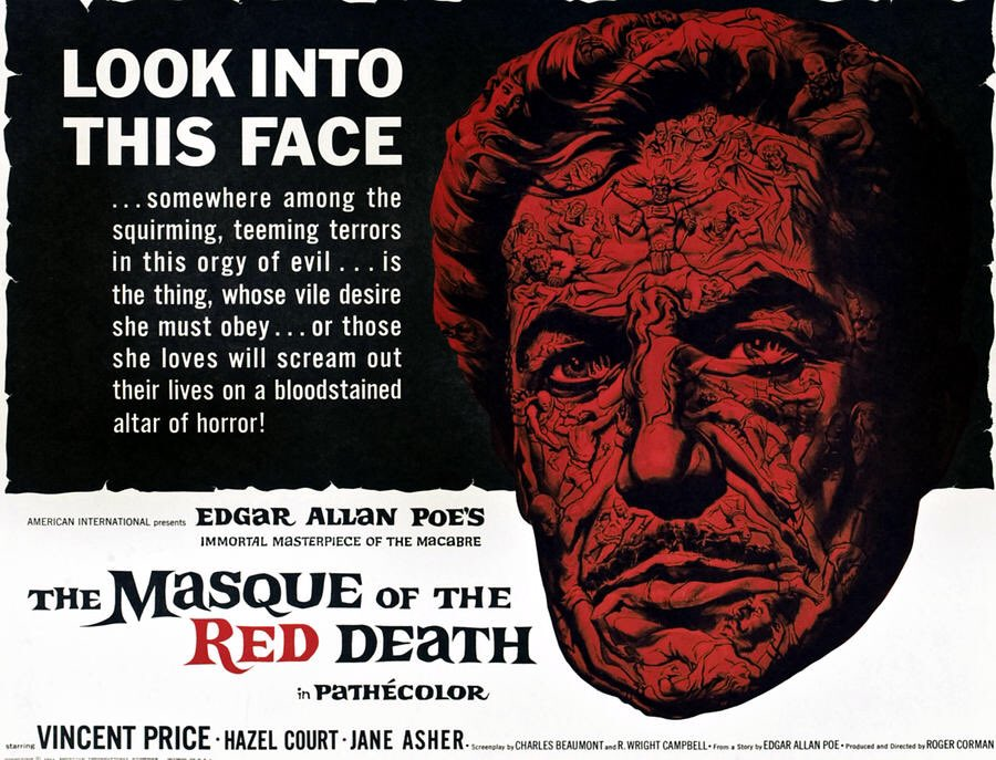 Original theatrical artwork of the horror film #TheMasqueOfTheRedDeath starring Vincent Price and Jane Asher @CHANNINGPOSTERS #tbt #HorrorMoviespic.twitter.com/zU2xBF4OEc