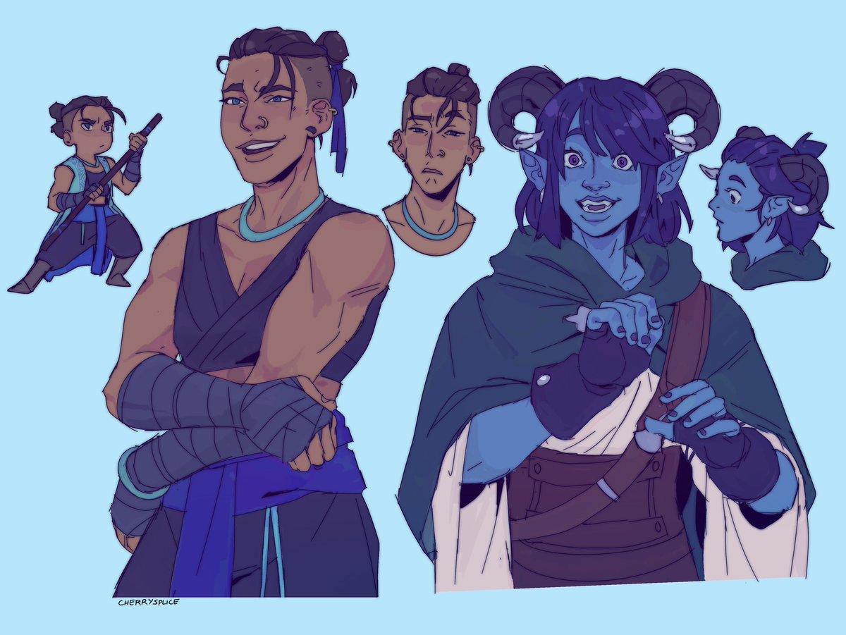 Drawing some Blue Ladies 💙 #CriticalRole #criticalrolefanart so glad to have this show back😭