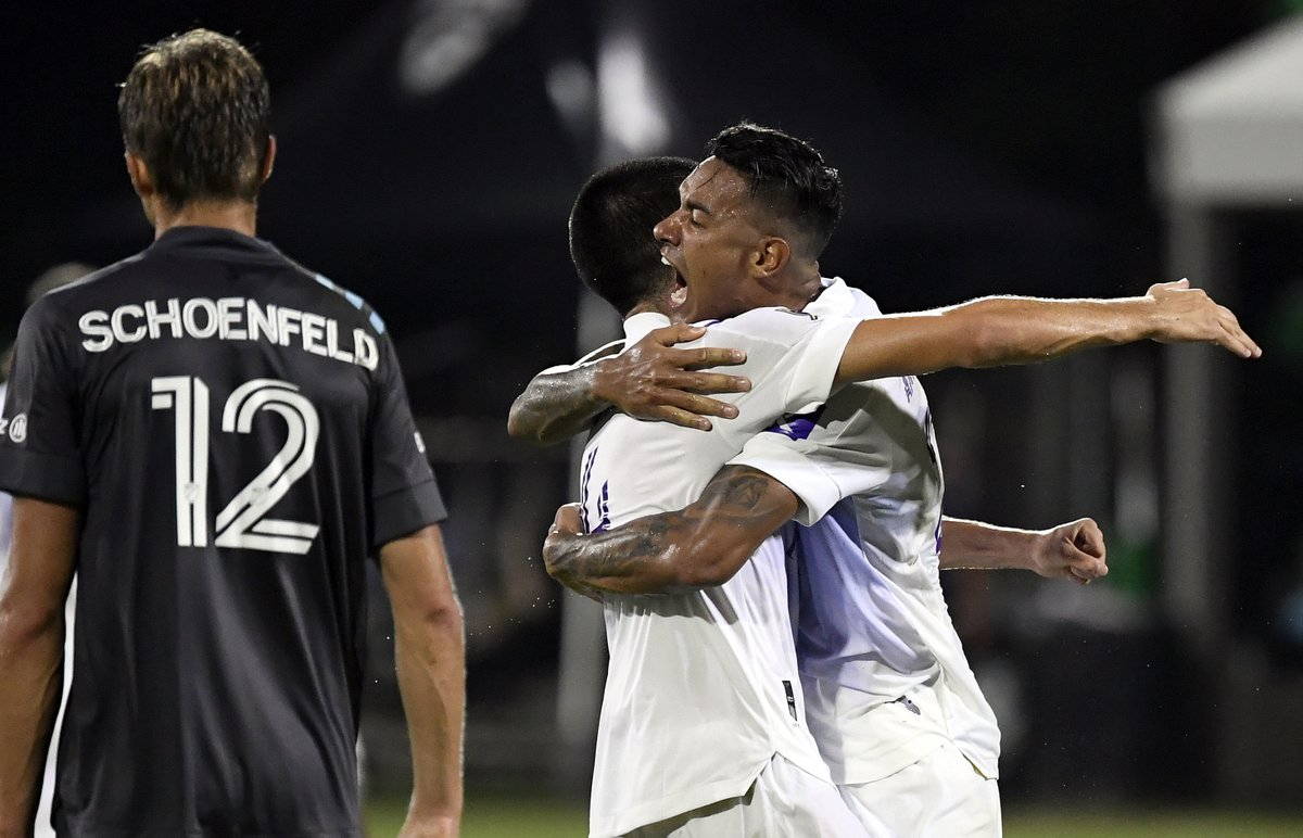 Hit us with your favorite #OrlandoCity moments in the #MLSisBack tournament so far: 3-2-1 go!  Your answers will help inspire an artist to create a live digital mural during the Final on Tuesday. https://t.co/2oxAIDxqJy