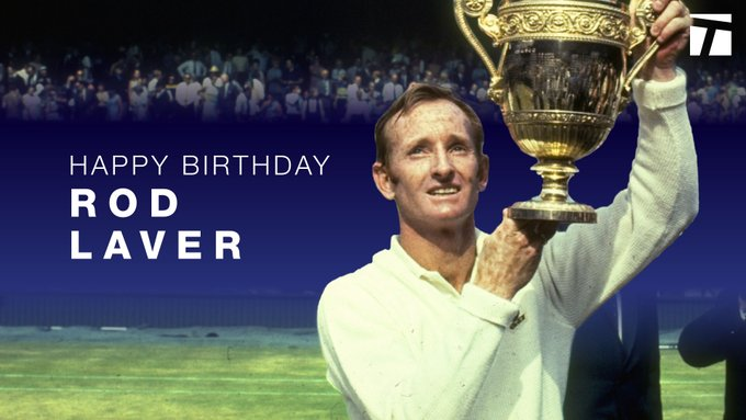 Happy 82nd birthday to former World No. 1 and 11-time Grand Slam champion, Rod Laver.