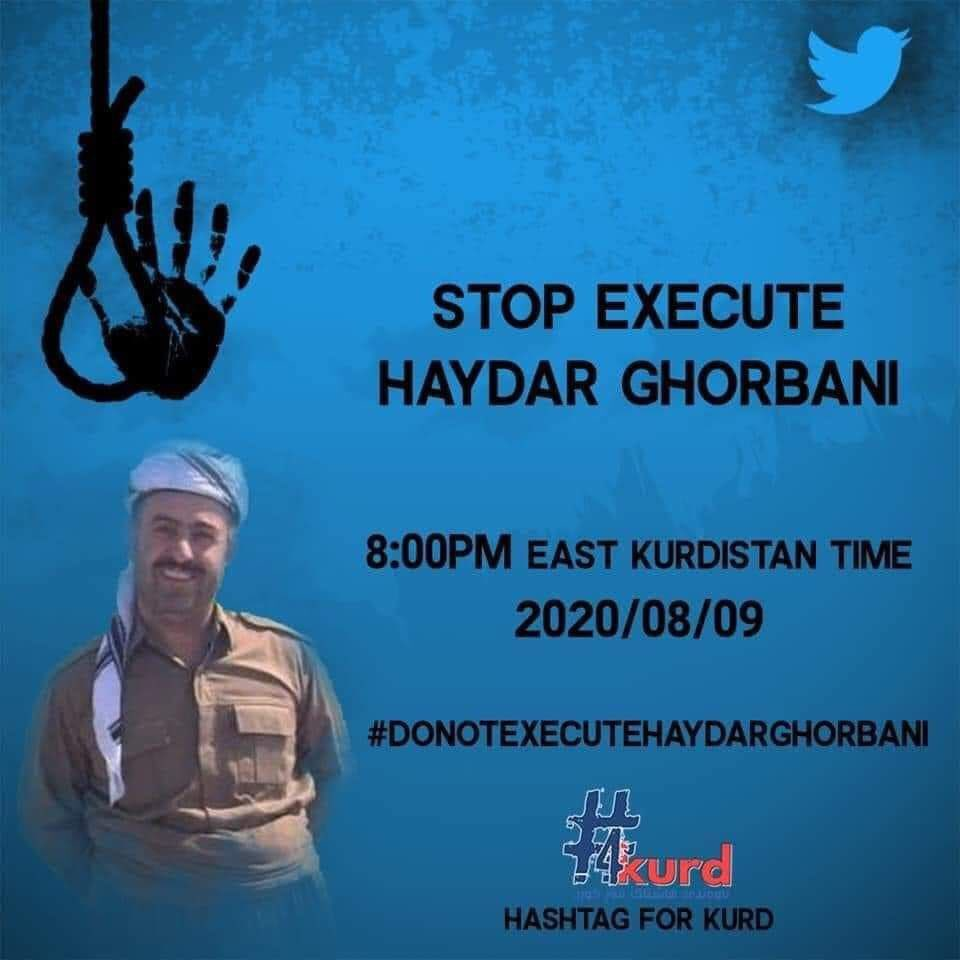 Haydar Ghorbani is another Kurdish political prisoner in #Iran whose execution is imminent. #DoNotExecuteHaydrGhorbanipic.twitter.com/crOEeUw05x