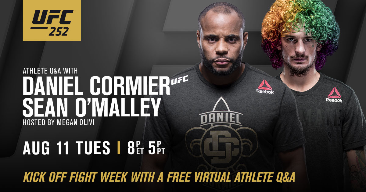 Join @DC_MMA and @SugaSeanMMA as they answer YOUR questions and breakdown #UFC252.   Register now for free access ➡️ https://t.co/MEl1BAGNvw https://t.co/jR3hGgN7xa