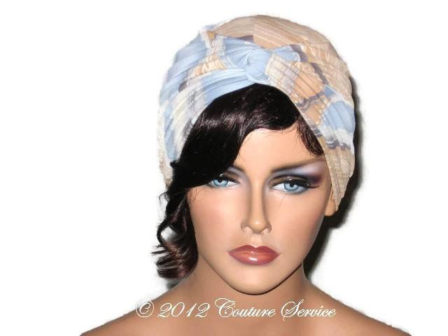 Handmade Blue Twist Turban, Abstract, Tan https://bit.ly/2Qjt9q5  #Shopify #CoutureService #LightweightTurbanpic.twitter.com/PIxHtHobvb
