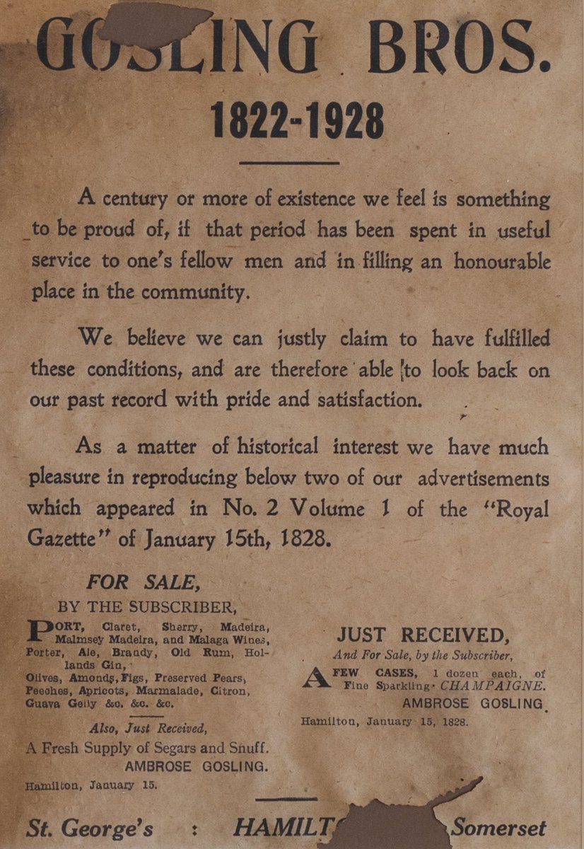 test Twitter Media - Ambrose Gosling placed our first advertisement in 1828 in the No 2 Volume 1 of @theroyalgazette https://t.co/4UMg8CQ0vX