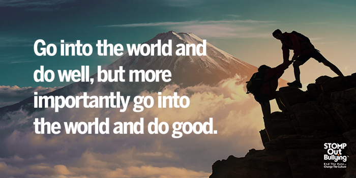 We have a choice in how we live our life - let's choose to do good! #dogood #ChangeTheCulture #STOMPOutBullying https://t.co/P57BfH7Wa6
